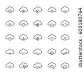 cloud line icon set | Shutterstock .eps vector #603180764