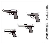 set of gun icons | Shutterstock .eps vector #603187583