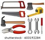 different types of handtools... | Shutterstock .eps vector #603192284