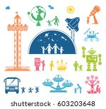 set of pictograms representing... | Shutterstock .eps vector #603203648