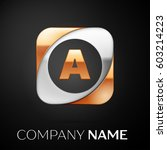 letter a vector logo symbol in...   Shutterstock .eps vector #603214223