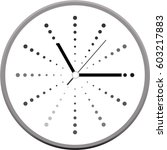 clock face vector | Shutterstock .eps vector #603217883