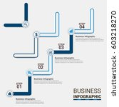 digital business infographic.... | Shutterstock .eps vector #603218270
