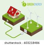 alternative green energy or... | Shutterstock .eps vector #603218486
