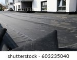 waterproofing flat roof with... | Shutterstock . vector #603235040