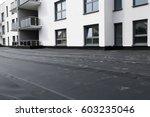 waterproofing flat roof with... | Shutterstock . vector #603235046
