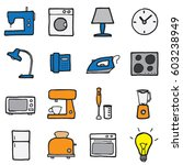 freehand line icons for... | Shutterstock .eps vector #603238949
