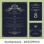 ornate vintage vector templates ... | Shutterstock .eps vector #603239414