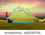 Circus Tent Under A Warn Sunse...