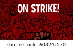 furious people protesting   Shutterstock .eps vector #603245570