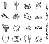 freehand line icons for... | Shutterstock .eps vector #603246890