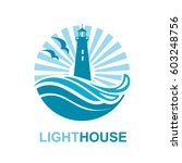 Lighthouse Icon Design With...