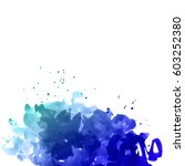 illustration of watercolor... | Shutterstock . vector #603252380