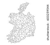 map of ireland from polygonal... | Shutterstock .eps vector #603259544