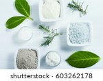 beauty products  cosmetic clay... | Shutterstock . vector #603262178