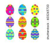 easter eggs vector icon...   Shutterstock .eps vector #603265733