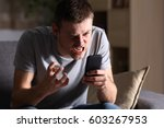 single angry person with a... | Shutterstock . vector #603267953