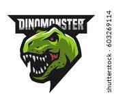 ferocious dinosaur. head of an...   Shutterstock .eps vector #603269114