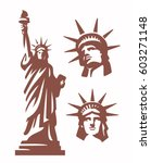 Statue Of Liberty Silhouette...