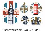 vector illustration of london... | Shutterstock .eps vector #603271358