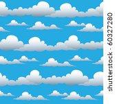 vector seamless cloudy sky.   Shutterstock .eps vector #60327280