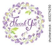 decorative handdrawn floral... | Shutterstock .eps vector #603274250