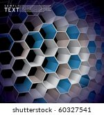 Hexagon Abstract Background - stock vector