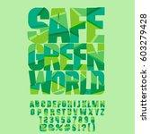 vector eco logo safe green...