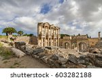 View Over The Roman Library Of...