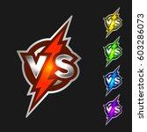 versus symbol. vs letters with... | Shutterstock .eps vector #603286073