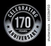170 years anniversary logo... | Shutterstock .eps vector #603286910