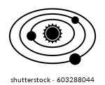 solar system with the sun and... | Shutterstock .eps vector #603288044