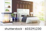 modern bright interior . 3d...   Shutterstock . vector #603291230