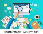 concept of hiring an employee.... | Shutterstock .eps vector #603294584