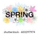 design banner with spring time... | Shutterstock .eps vector #603297974