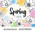 design banner with spring time... | Shutterstock .eps vector #603298004