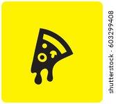 pizza icon | Shutterstock .eps vector #603299408