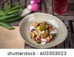 appetizer of cheese and... | Shutterstock . vector #603303023