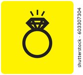 ring icon | Shutterstock .eps vector #603307304