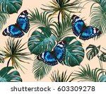 beautiful seamless vector... | Shutterstock .eps vector #603309278
