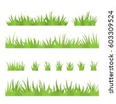 tufts of grass. a set of design ... | Shutterstock .eps vector #603309524