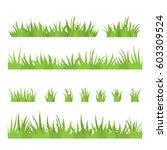Tufts Of Grass. A Set Of Desig...