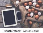 order online healthy fresh eggs.... | Shutterstock . vector #603313550