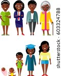 all age group of african... | Shutterstock .eps vector #603324788