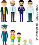 all age group of european... | Shutterstock .eps vector #603324800