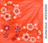 wedding card or invitation... | Shutterstock .eps vector #603326060
