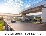 highway interchange with bridge ... | Shutterstock . vector #603327440