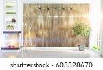 modern bright interior . 3d... | Shutterstock . vector #603328670