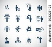 business management  training ... | Shutterstock .eps vector #603329426