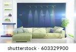 modern bright interior . 3d...   Shutterstock . vector #603329900